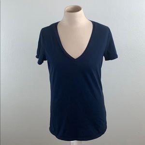 Everlane Navy Supima Cotton V-Neck T-Shirt